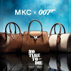 奢华小牛皮原料+抛光MKC x 007铭牌Michael Kors x 007系列电影联名款上架 get女主角精致优雅同款