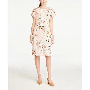 Ann TaylorFloral Puff Sleeve Sheath Dress