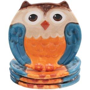 $6.97Mainstays 超可爱猫头鹰造型陶瓷沙拉盘 4个