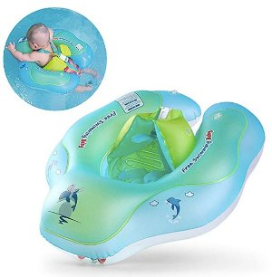 Free Swimming Baby Inflatable Baby Swimming Float Ring Children Waist Float Ring Inflatable Floats Pool Toys Swimming Pool Accessories for the Age of 3-36 Months