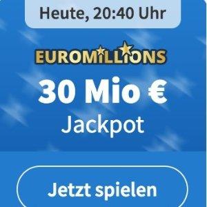 周二/五开奖 2注机会只要€1EuroMillions 彩票奖金累计3000欧元 试一试单车秒变摩托