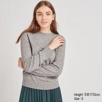 Uniqlo 100%羊绒圆领毛衣 多色可选