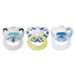 NUK® Orthodontic Pacifiers, 6-18 Months, Boy, 3 pack