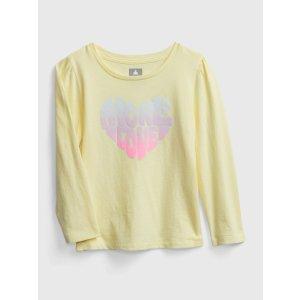 Gap100%纯棉小童 印花T恤