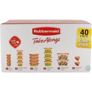 $9Rubbermaid 食物储存盒 40件套