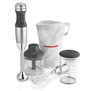 $34.99史低价:KitchenAid 3速手持搅拌机套装