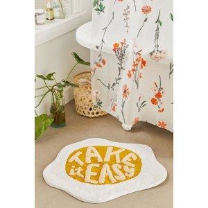 可爱煎蛋 浴室防滑垫