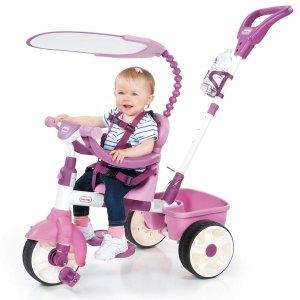 现价$76.97(原价$129.99)Little Tikes 4合1 粉色儿童小车车