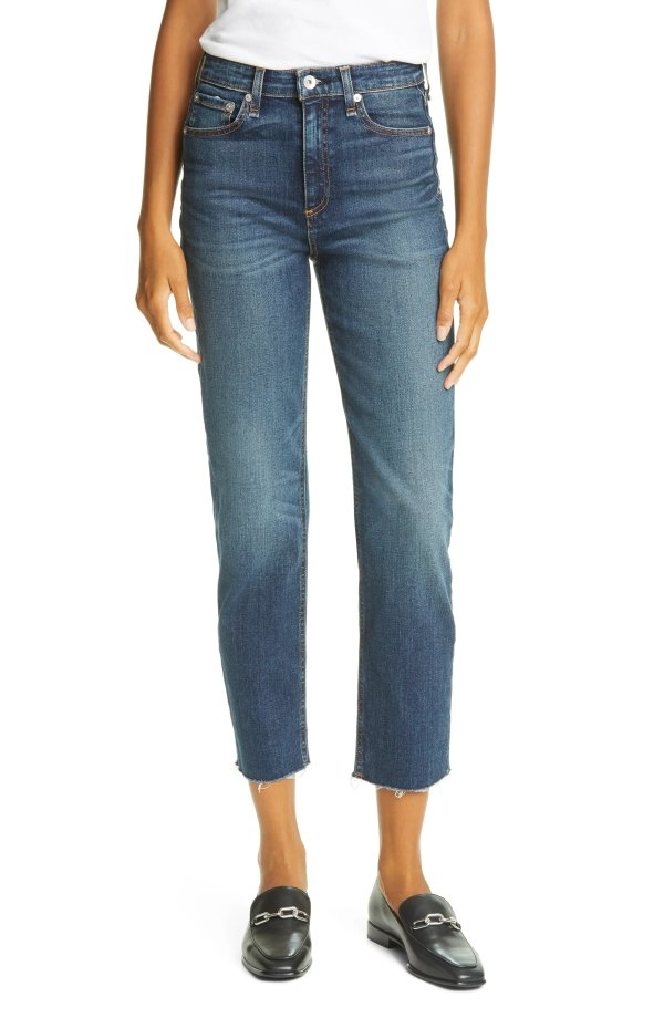 Nina 高腰直筒牛仔裤