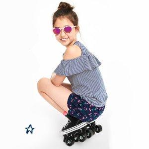 $6起 上学、打底、度假款都有OshKosh BGosh 儿童短裤上新 收女童防走光裙裤