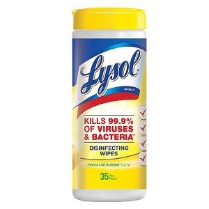 lysol不参与额外9折消毒湿巾 35片