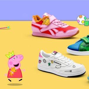 2月15日发售预告:Reebok x 小猪佩奇 合作款童鞋 穿上就是社会人