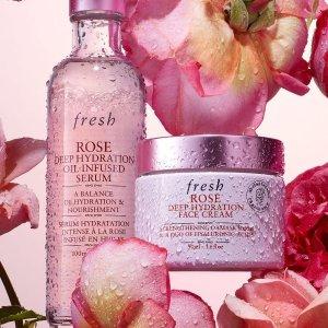 无门槛6折+免邮独家:Fresh 多款玫瑰系列套装大促 立即保湿拒绝干燥