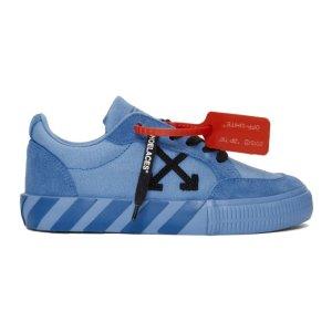 Off-White蓝色运动鞋
