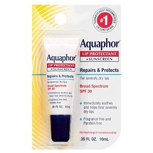 Aquaphor Lip Protectant and Sunscreen Ointment - Broad Spectrum SPF 30 @ Amazon