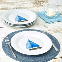 Walmart 帆船印花餐盘4件套