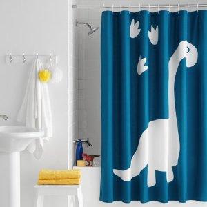 Your ZoneDinosaur Paw Print Fabric Shower Curtain, 72