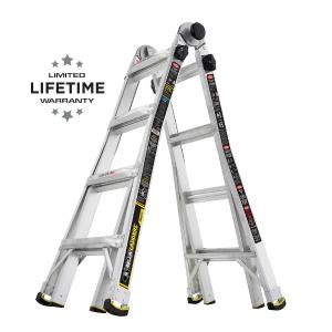 Gorilla Ladders 18 ft 铝合金伸缩折叠梯 可承重375磅