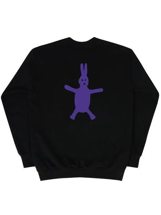 紫色兔兔卫衣