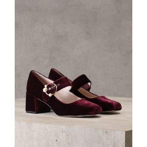 Pedro Shoes丝绒玛丽珍