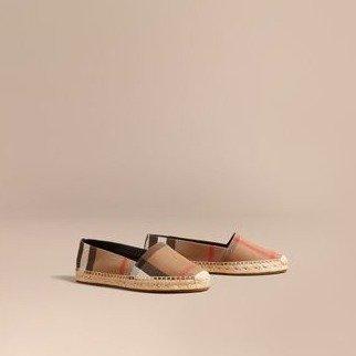 格纹渔夫鞋