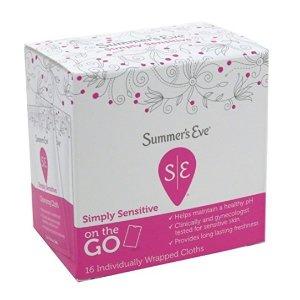 $2.59 敏感肌适用Summer's Eve 女性私处清洁湿巾 16张