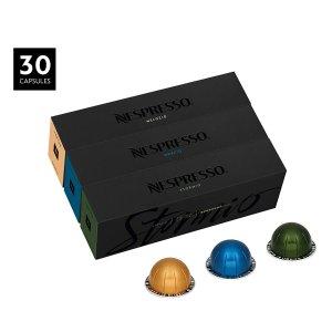 $33.00 雀巢甄选 奢华享受Nespresso Vertuoline 销量冠军胶囊咖啡 混合口味 30粒