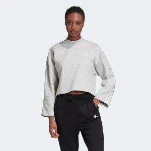 Adidas100%聚酯纤维灰色基础款卫衣
