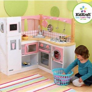 低至$14.99KidKraft 儿童娃娃屋、仿真厨房、收纳架、书架等家具、玩具优惠