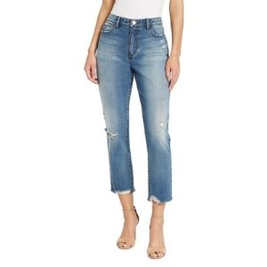 Skinny Girl High-rise Straight Cropped Jeans