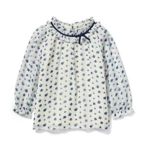 Janie and JackFloral Shimmer Top