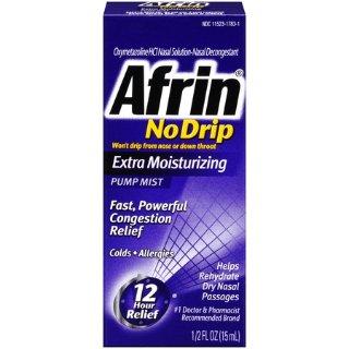 $5.96Afrin No-Drip Extra Moisturizing Congestion Relief Pump Mist, 0.5 Fl Oz