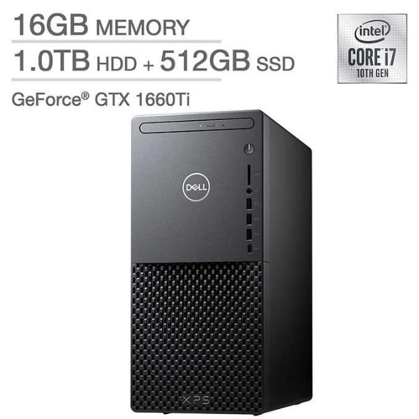 XPS 8940 台式机 (i7-10700, 1660Ti, 16GB, 512GB)