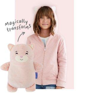 $38.25+包邮折扣升级:Cubcoats 小猫造型公仔外套 带给宝宝双重温暖