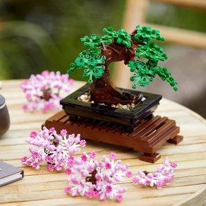 $69.94 共878颗粒补货:LEGO乐高 盆景树 10281 在松柏、樱花之间自由切换
