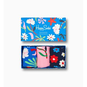 Happy SocksFlower Edition Gift Box 3-Pack