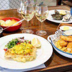 $49 (原价$113)Mohr Fish on Crown 2人精致午餐\晚餐+酒水