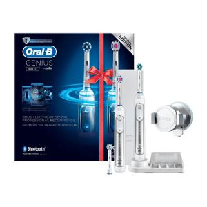 43折特价+新用户立减15欧限今天:Oral B Genius 8900 电动牙刷 2支装+替换刷头+旅行充电器