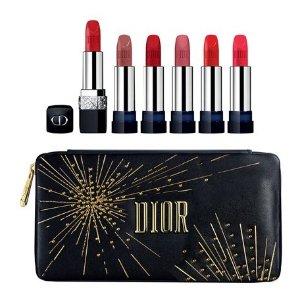 $175 含经典999上新:Dior 2019圣诞限定唇膏套装