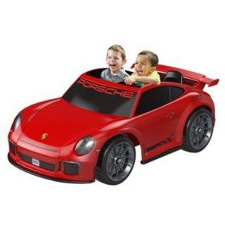 $199,原价$349 方向可前可后保时捷 Porsche 911 Gt3 儿童电动玩具车 父母可控速
