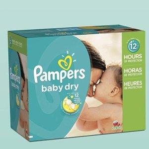 $23.78(原价$37.28)Pampers Baby Dry 婴儿纸尿裤超大包装 size 3  (192片)