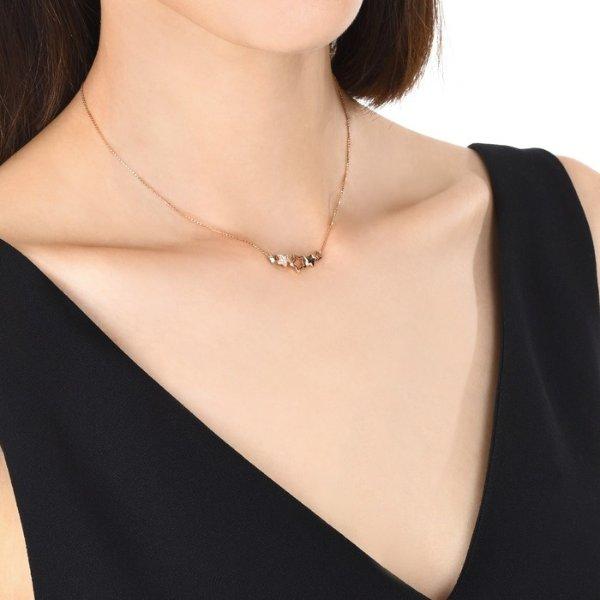 18K玫瑰金钻石项链