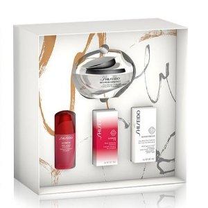 变相6.7折+2个小样 仅€48.2收限今天:Shiseido 资生堂 百优焕透亮颜面霜 4件超值节日套装 含红腰子