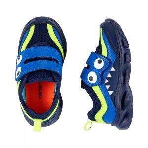 Carter's买两双6折,三双5折,可混搭儿童闪灯怪兽运动鞋