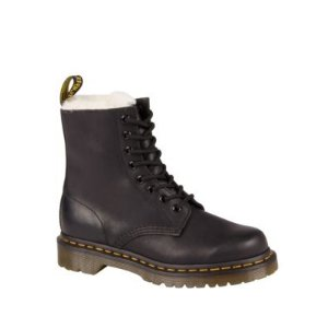 Dr. MartensSerene Leather and Faux Fur Lace-Up Booties