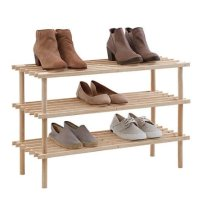 3层木制鞋架