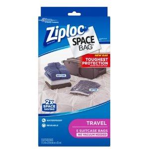 $10.98Ziploc空气压缩旅行行李袋