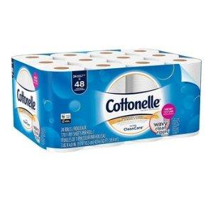 相当于普通48卷Cottonelle 卫生纸24卷