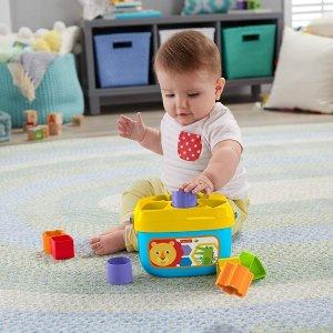 $8.97(原价$14.99)Fisher Price 婴幼儿启蒙积木套盒 锻炼宝宝的协调力