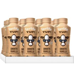 白菜价$14.6 一瓶仅1.21手慢无:fairlife YUP! 低脂无乳糖低脂香草牛奶 14Oz 12瓶